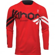 Thor Kids Pulse Cube Red White Jersey
