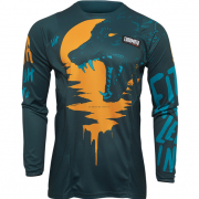 Thor Kids Pulse Counting Sheep Teal Tangerine Jersey