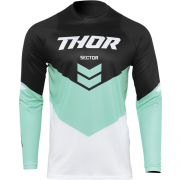Thor Kids Sector Chev Black Mint Jersey