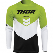 Thor Kids Sector Chev Black Green Jersey