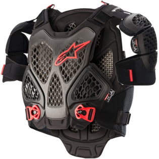 Alpinestars A6 Black Anthracite Red Chest Protector