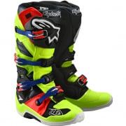 Alpinestars Tech 7 Troy Lee Designs Yellow Red Boots