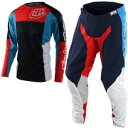 Troy Lee Designs SE Pro Quattro Navy Red Kit Combo