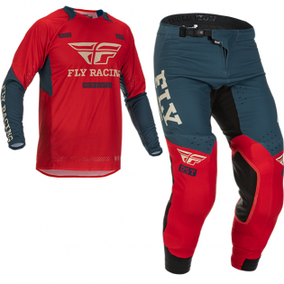 Fly Racing Evolution DST Red Grey Kit Combo