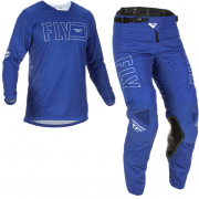 Fly Racing Kinetic Fuel Blue White Kit Combo