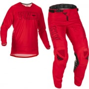 Fly Racing Kinetic Fuel Red Black Kit Combo