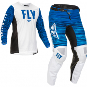 Fly Racing Kinetic Wave White Blue Kit Combo