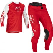 Fly Racing Lite Red White Kit Combo