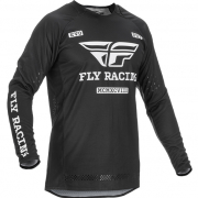Fly Racing Evolution DST Black White Jersey
