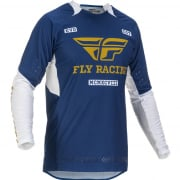 Fly Racing Evolution DST Navy White Gold Jersey