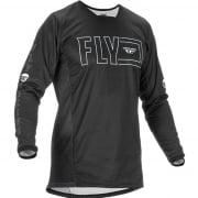 Fly Racing Kinetic Fuel Black White Jersey