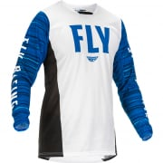 Fly Racing Kinetic Wave White Blue Jersey