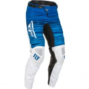 Fly Racing Kinetic Wave White Blue Pants