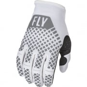 Fly Racing Kinetic White Gloves