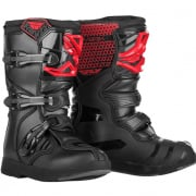 Fly Racing Maverik Youth Kids Red Black Boots