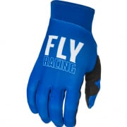 Fly Racing Pro Lite Blue White Gloves