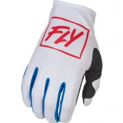 Fly Racing Kids Lite Red White Blue Gloves