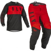 Fly Racing Kids F16 Red Black Kit Combo