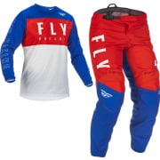 Fly Racing Kids F16 Red White Blue Kit Combo