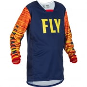 Fly Racing Kids Kinetic Wave Navy Yellow Red Jersey