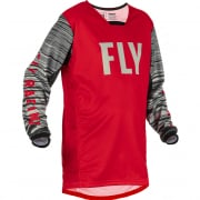 Fly Racing Kids Kinetic Wave Red Grey Jersey