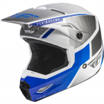 Fly Racing Youth Kinetic Drift Blue Charcoal White Helmet