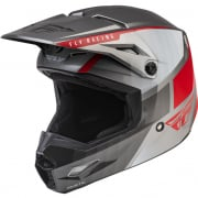 Fly Racing Youth Kinetic Drift Charcoal Lite Grey Red Helmet
