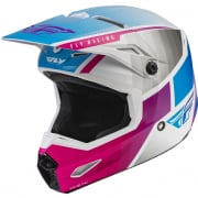 Fly Racing Youth Kinetic Drift Pink White Blue Helmet