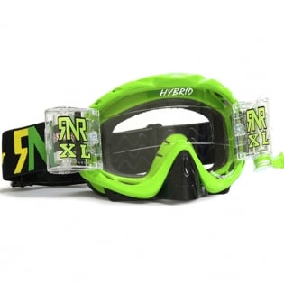 Rip n Roll Hybrid XL Roll Off Goggles - Lime Green